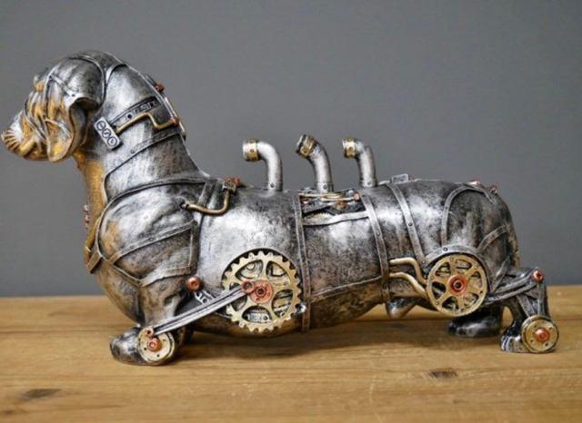 Steampunk Dachshund Sausage Dog Sculpture 2