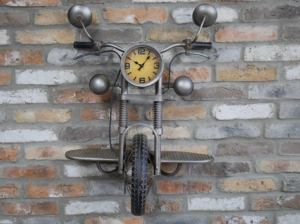 Steampunk motorcycle Motorbike Clock 1