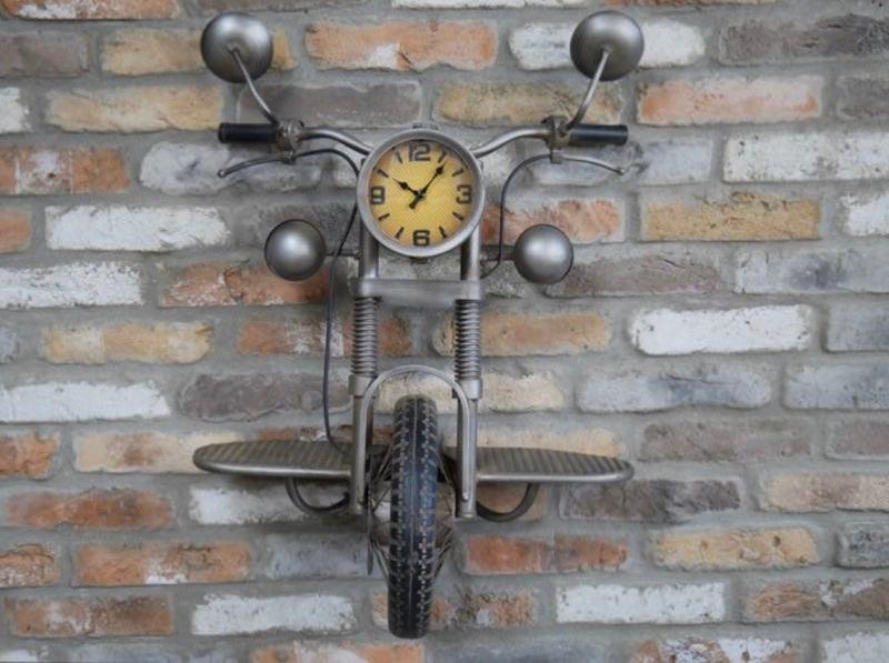 Steampunk motorcycle Motorbike Clock 1