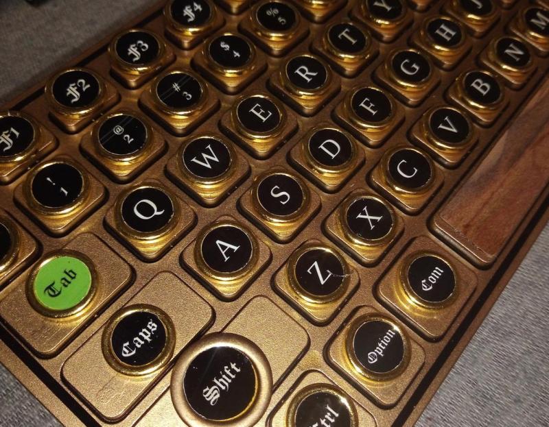 The mini gold retro steampunk keyboard. 1