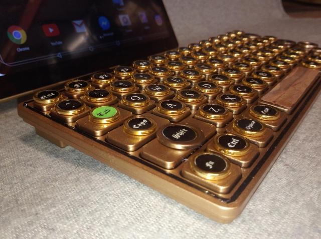 The mini gold retro steampunk keyboard. 2