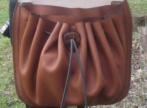 Steampunk Design Decorated Leather Cross Bag/Purse. 4