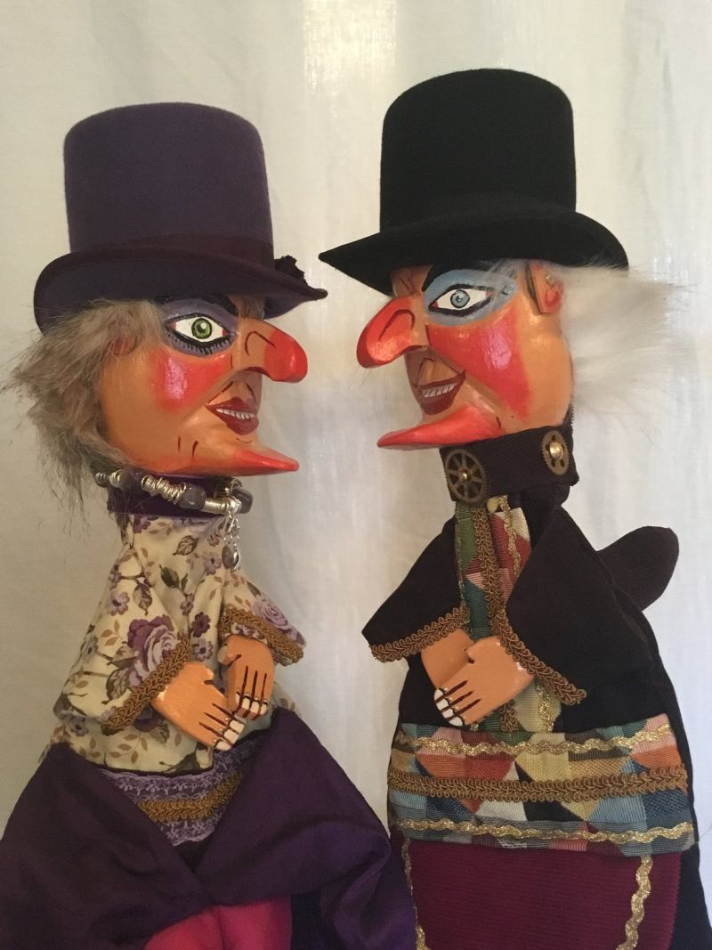 Steampunk Punch & Judy Puppets.
