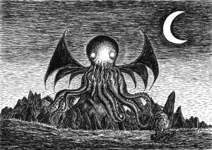 The Call of Cthulhu. An art print by Jon Turner. 1