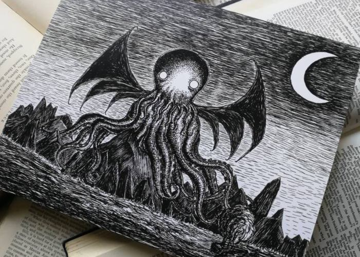 The Call of Cthulhu. An art print by Jon Turner. 2
