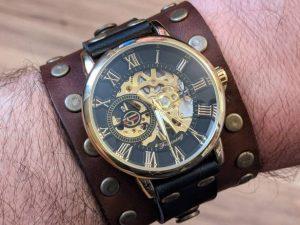 Steampunk Gothic Victorian Wrist Watch by J.J.Steampunk.