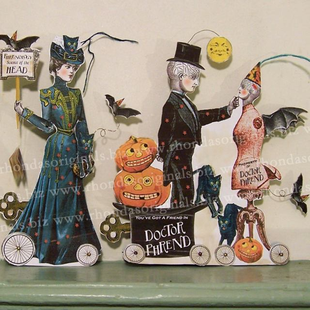 Printable Paper doll Haloween decoration.  3