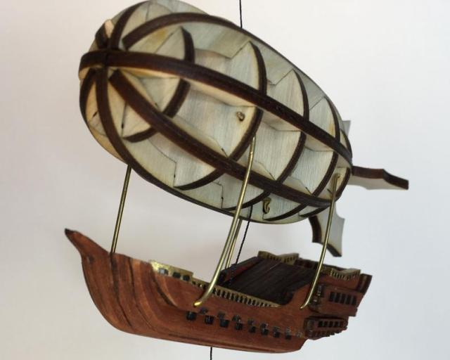 Steampunk Airship String Climbing Model Ready Made. Perfect gift. 2