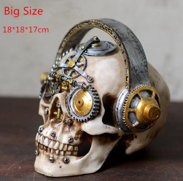 Steampunk mechanical gear skulls. 2