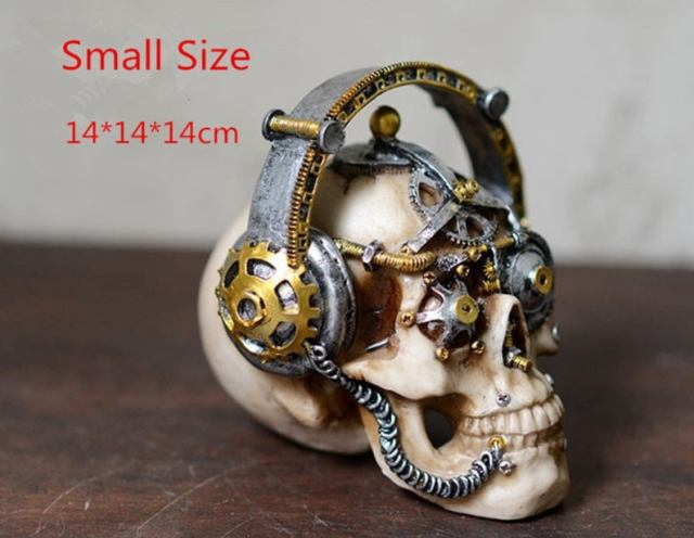 Steampunk mechanical gear skulls.3