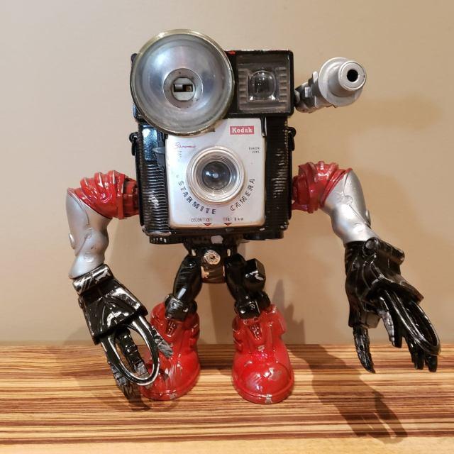Vintage Kodak Brownie Starmite Camera robot Cambot kitbash Droid