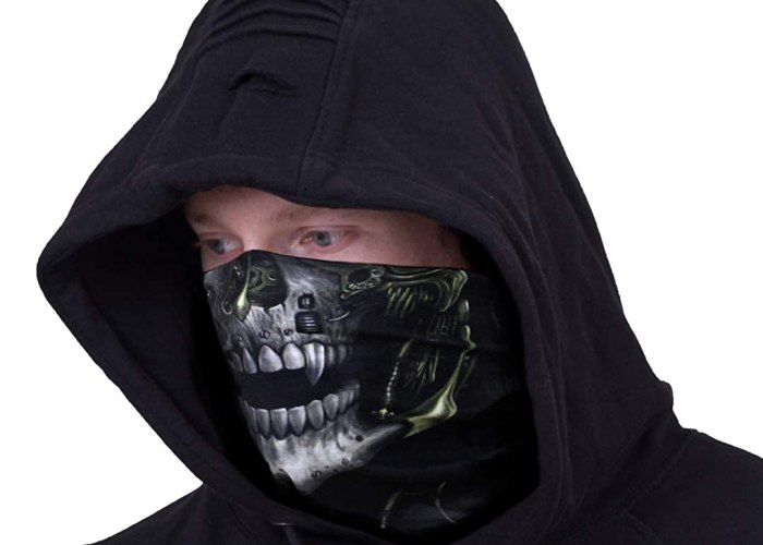 Spiral - Steam Punk Reaper - Multifunctional Face Wraps Black, One Size