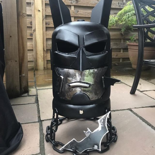 Batman Wood Burner - Batman Fire Pit - DC Comics - DC Comic Art - Metal Art Garden - Metal Art Home - Fire Pit - Wood Burner  2