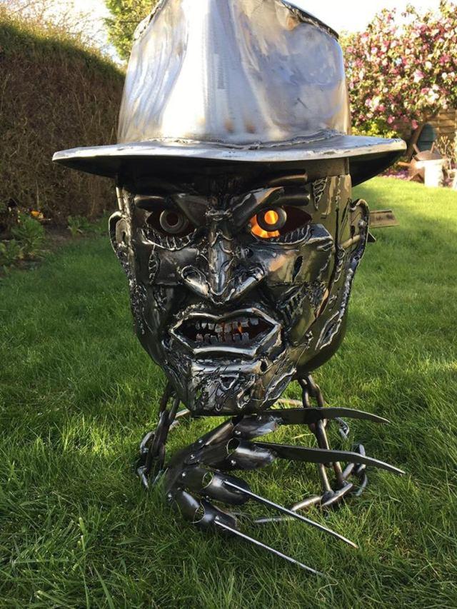 Freddy Krueger Wood Burner - Halloween Fire Pit - Halloween Wood Burner - Nightmare on Elm Street - Fire Pit - Freddy Krueger  1