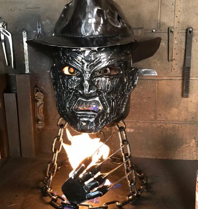 Freddy Krueger Wood Burner - Halloween Fire Pit - Halloween Wood Burner - Nightmare on Elm Street - Fire Pit - Freddy Krueger  4