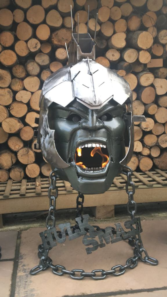 Incredible Hulk Wood Burner - Incredible Hulk - Fire Pit - Marvel Comics - Marvel Comic Fire Pit - Metal Art  6