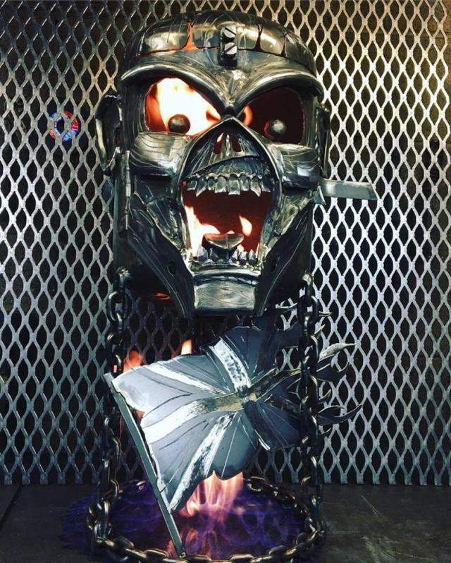 Iron Maiden Fire Pit - Iron Maiden Wood Burner - Eddie Fire Pit - Eddie Wood Burner - Metal Art  5