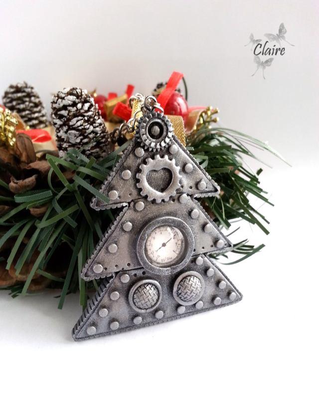 Steampunk Christmas Tree. Christmas tree ornament. Christmas decor. Christmas decorations. Gift for Christmas. Christmas in July