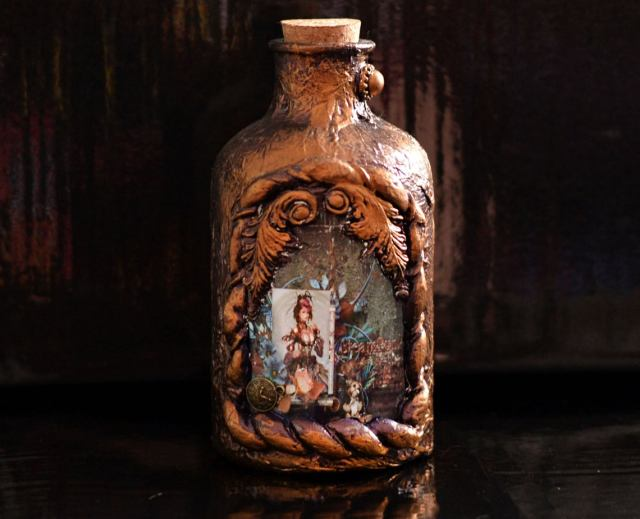 Steampunk, Gothic Bottle, Potion Bottle, Fantasy Bottle, Gothic Decor, Gothic Decoration,Magical Bottle, Ornament Steampunk Christmas Decorations for 2020.