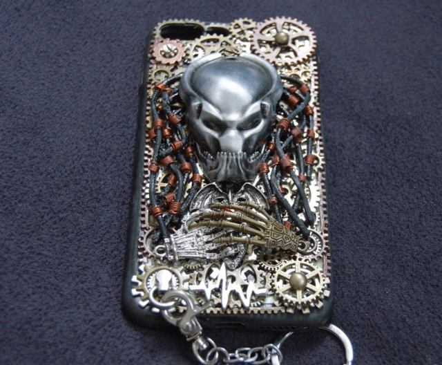 Handmade-Steampunk-Phone-Case-Personalised-Metal-Gears-Gothic-Alien-Predator-Artwork-Phone-Back-Cover-Gift-for-Rocker-Biker-1-1