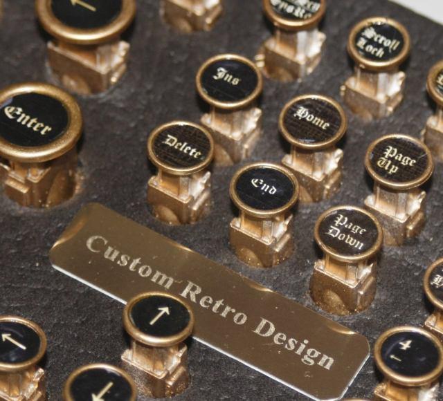 "steampunk PC keyboard ""classic""  5 pc"