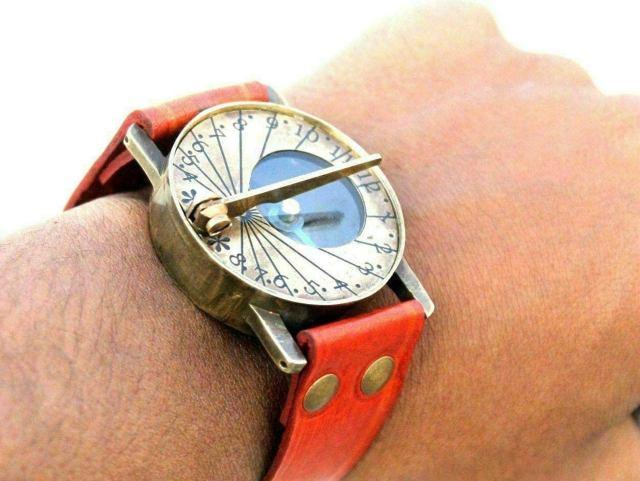 Antique Steampunk Wrist Antique Style Steampunk Wrist Brass Compass & Sundial-Watch Type Sundial Valentines Day Gift