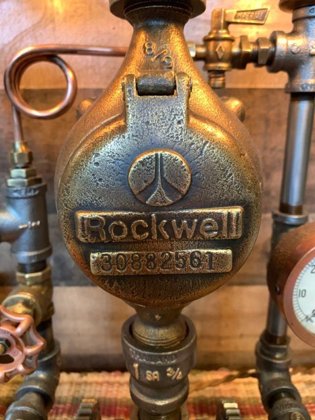 Vintage Machine Age Steampunk Lamp 3