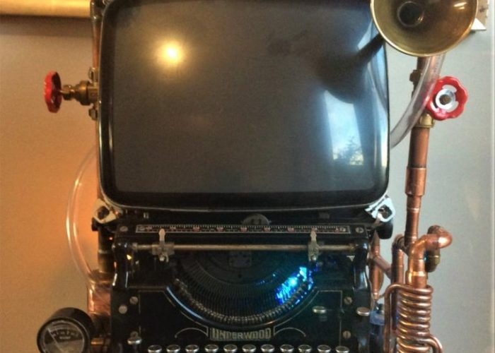 Victorian Steampunk Computer Sculpture. Created by Barry Holden Upcycled.