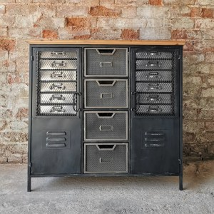 Wooden Top Industrial Storage Cabinet. Created by Cambrewood.