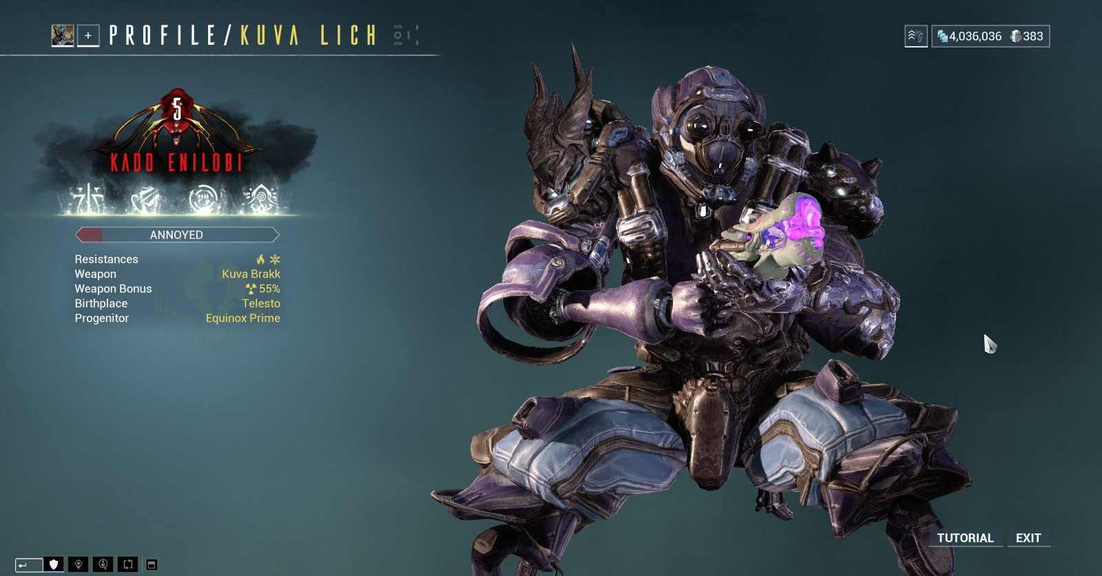 Kuva Lich With Meme Name Pc Trading Post Warframe Forums