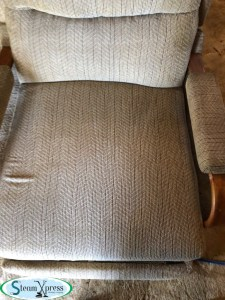 after upholstery clean