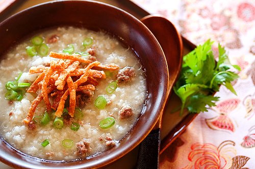 Beef Congee (Rice Porridge) + PBS Show • Steamy Kitchen Recipes Giveaways