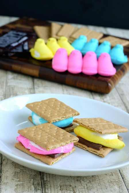 Easter Peep S'Mores