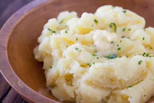 papas majadas mantequilla