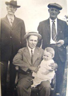 four generations of Lagasse - Dennis II, Dennis III, Harry Lagasse and Gerard Lagasse