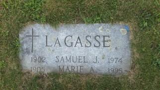 headstone Samuel Lagasse