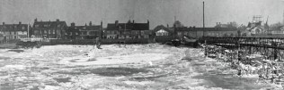 River Crouch, frozen during the winter of 1947 (probably)