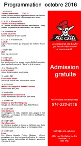 programmation octobre 2016