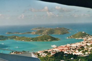 Udsigt over Charlotte Amalie, St. Thomas, US Virgin Islands.