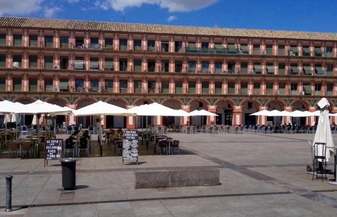 Plaza de la Corredera, Cordoba, Andalusien, Spanien.