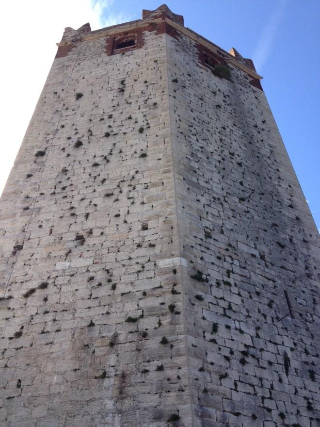 Tårnet på Castello Scaligero, Malcesine, Veneto, Italien.