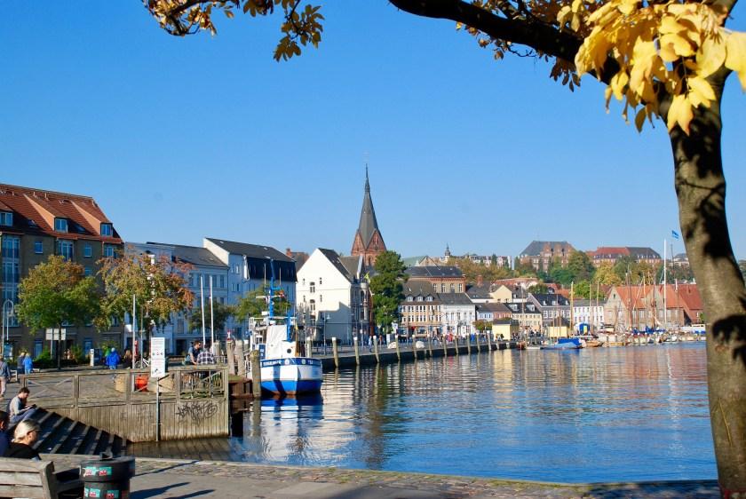 Hafenspitze, Flensburg, Tyskland.