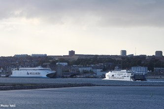The ferry in the Port of Aarhus