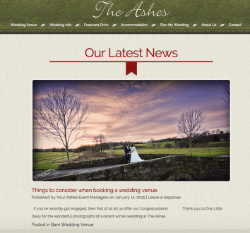 The Ashes Exclusive Country House Barn Wedding Venue