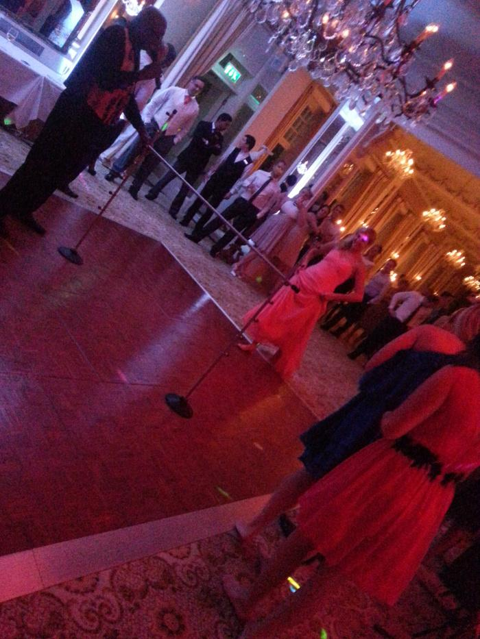 Old Government House OGH Steel band wedding limbo dancing bride