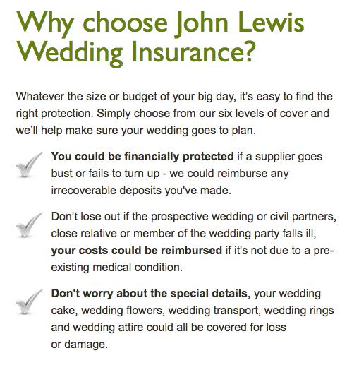 wedding insurance with steelasophical john Lewis 3