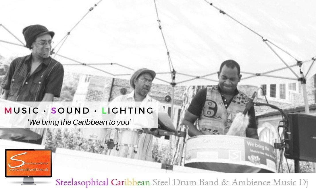 Steelasophical steel Pan Drum Band band DJ Steelpan |Borewood House, Easthampstead, Rivervale Barn