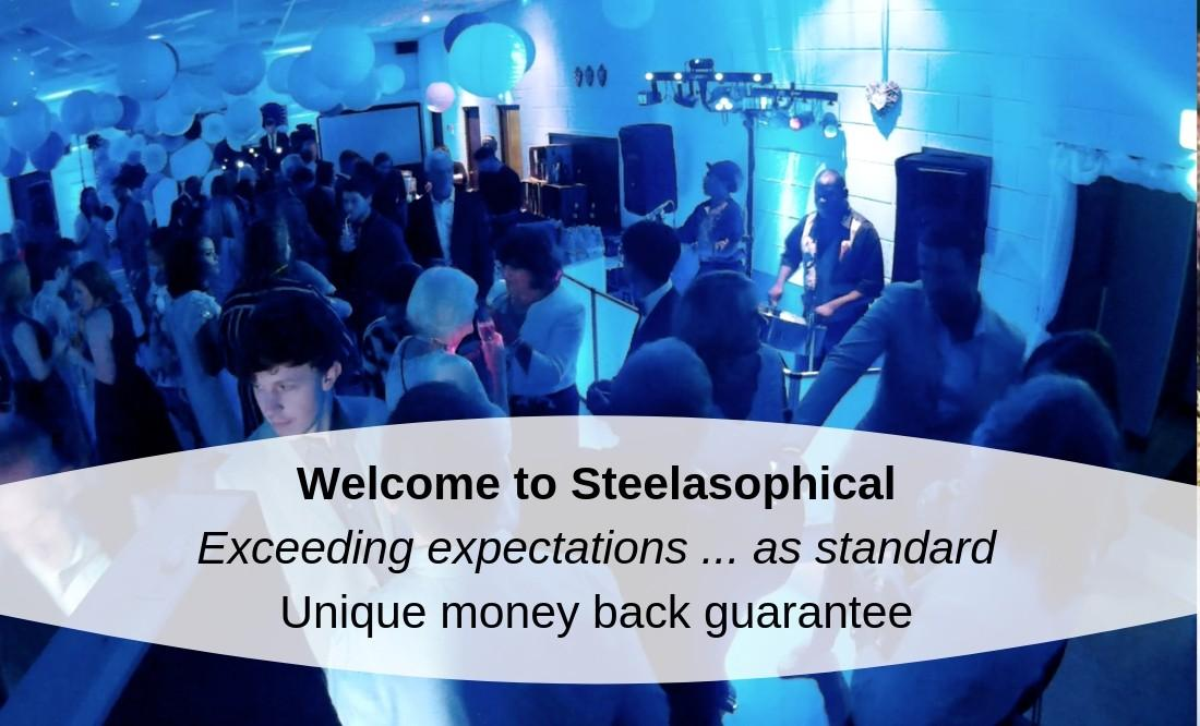 Hire a band for your wedding, party or corporate function   Steelasophical