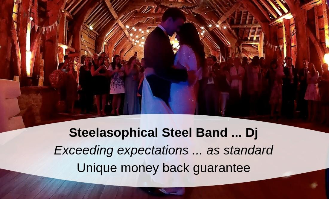 Hire a band for your wedding day, party or corporate function   Steelasophical Steelpan