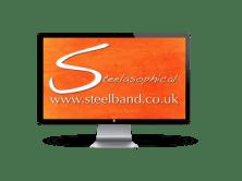 Steelasophical steel band steelpan music logo png